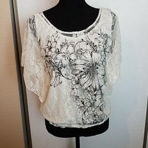 Lacy Layered Blouse NWOT